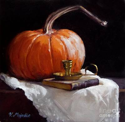 Painting - The Last Pumpkin by Viktoria K Majestic