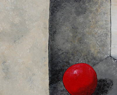 Pill Painting - The Last Red Balloon by Sara Gardner