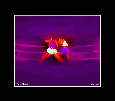 Jab Mixed Media - The Last Round  1 C by Diane Strain