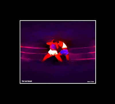 Jab Mixed Media - The Last Round  2 C by Diane Strain