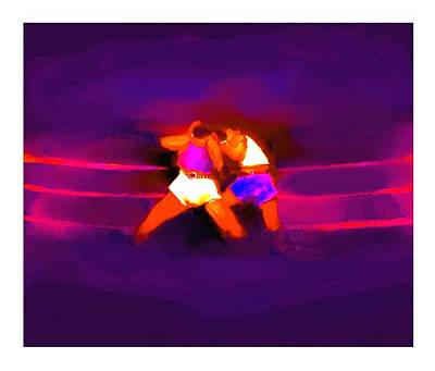 Punch Mixed Media - The Last Round  3 B by Diane Strain