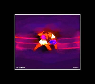 Jab Mixed Media - The Last Round  3 C by Diane Strain