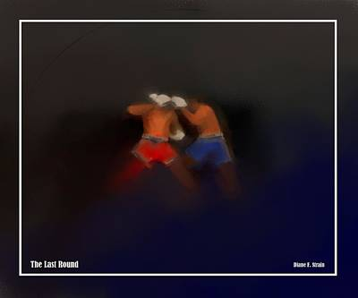 Jab Mixed Media - The Last Round  #8 by Diane Strain