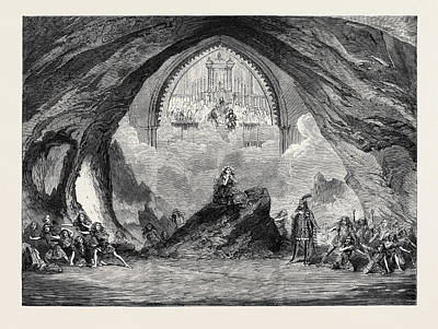 Garden Scene Drawing - The Last Scene From The New Opera Of Satanella At Covent by English School