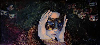 Dark Eyes Painting - The Last Secret by Dorina  Costras