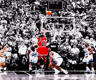 Air Jordan Digital Art - The Last Shot by Brian Reaves