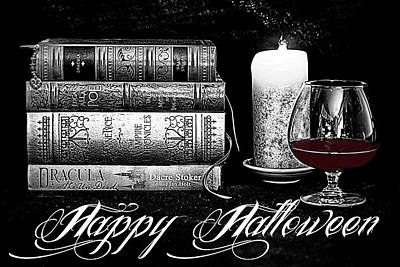Dracula Digital Art - The Last Sip by Jacque The Muse Photography