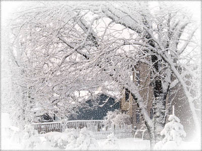 Art Print featuring the photograph The Last Snow Storm by Kay Novy