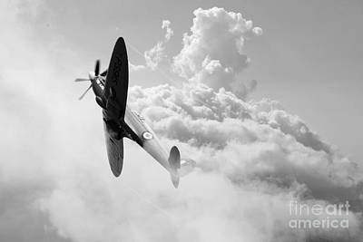 Griffon Digital Art - The Last Spitfire by J Biggadike