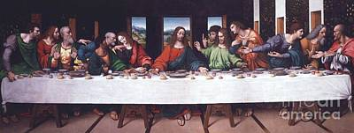Disciples Painting - The Last Supper - After Da Vinci by Pg Reproductions