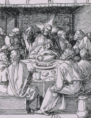 Black Gospel Painting - The Last Supper by Albrecht Durer or Duerer