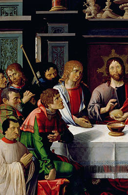 The Followers Painting - The Last Supper by French School