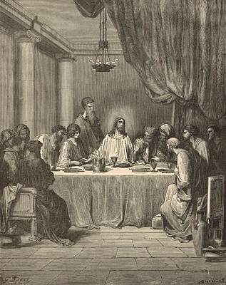 The Last Supper Art Print by Antique Engravings