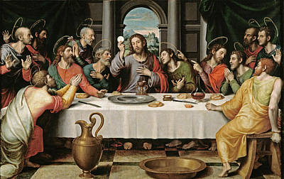 Table Cloth Digital Art - The Last Supper by Joan de Joanes