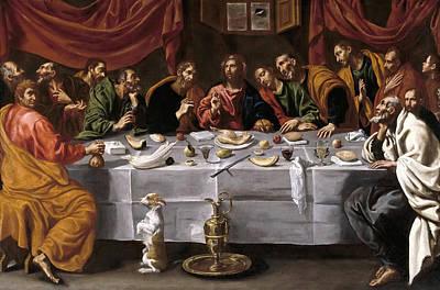 Luis Sales Painting - The Last Supper by Luis Tristan de Escamilla