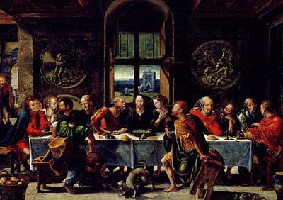 Disciples Painting - The Last Supper by Pieter Coecke van Aelst