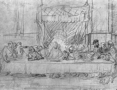 Drawing - The Last Supper by Celestial Images