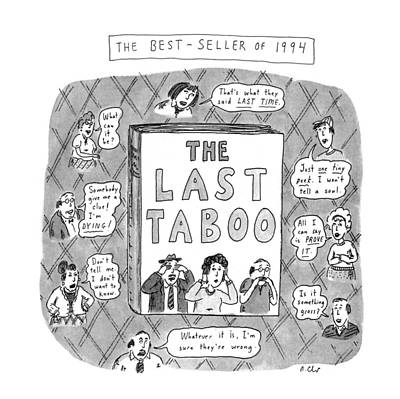 Book Title Drawing - The Last Taboo by Roz Chast