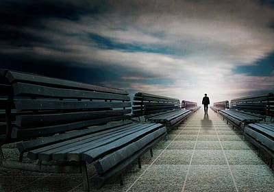 Depart Photograph - The Last To Leave And So Lonely. by Ben Goossens