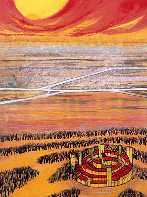 Citadel Painting - The Last Town, 2006 by Silvia Pastore