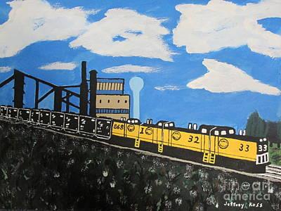 Tipple Painting - Coal Mine The Last Train by Jeffrey Koss