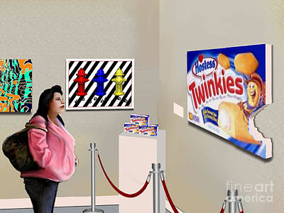 Twinkie Painting - The Last Twinkie by Jann Paxton