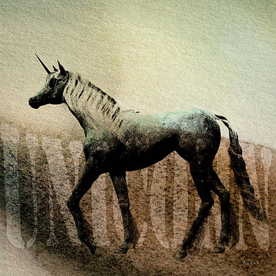 Surrealism Royalty-Free and Rights-Managed Images - The Last Unicorn by Bob Orsillo