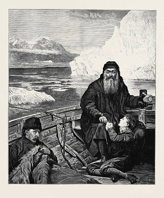 Collier Drawing - The Last Voyage Of Henry Hudson From The Picture By John by English School
