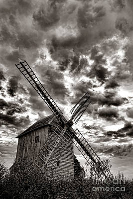 Old Mills Photograph - The Last Windmill by Olivier Le Queinec