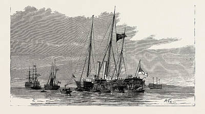 Alberta Drawing - The Late Duke Of Albany The Royal Yachts Osborne by English School