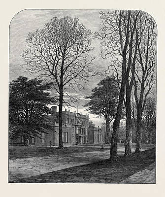 Camden Drawing - The Late Emperor Napoleon IIi Camden Place Chiselhurst by English School