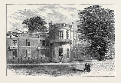 Camden Drawing - The Late Emperor Napoleon IIi Camden Place Exterior View by English School