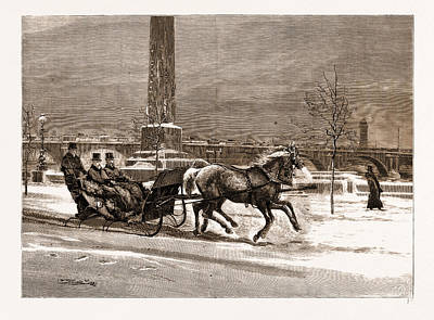 Frost Drawing - The Late Frost The Prince Of Wales Sleighing On The Thames by Litz Collection