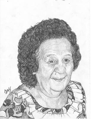 Drawing - The Late Leroj by Lew Davis