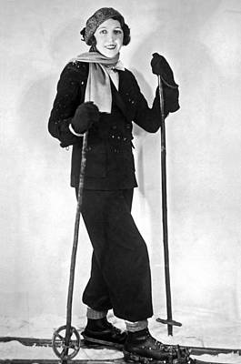 Ski Photograph - The Latest Paris Ski Ensemble by Underwood Archives
