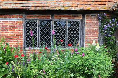 Foxglove Flowers Photograph - The Lattice Window by James Brunker