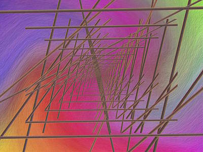 Digital Art - The Latticework 2 by Tim Allen