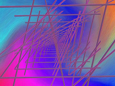Digital Art - The Latticework 4 by Tim Allen