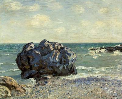 Quiet Places Painting - The Laugland Bay by Alfred Sisley