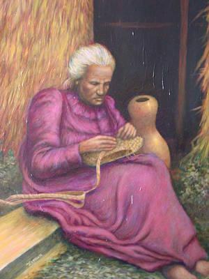 The Lauhala Weaver Art Print by Jamen Chai
