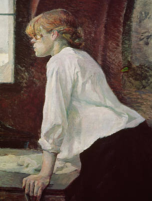 Laundry Painting - The Laundress by Henri de Toulouse Lautrec