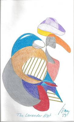 Drawing - The Lavendar Hat by Rod Ismay
