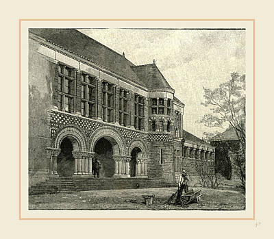 Harvard Drawing - The Law School Harvard, 19th Century, Usa by Liszt collection