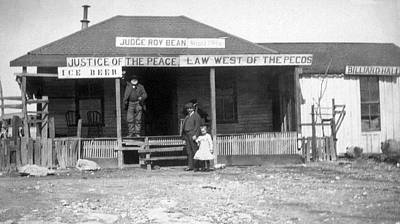 Roy Photograph - The Law West Of The Pecos by Underwood Archives