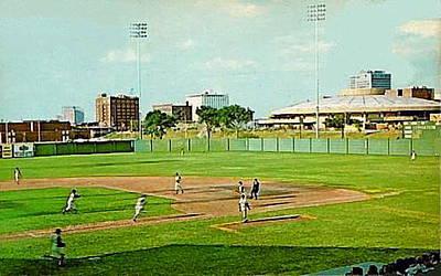 The Lawrence Baseball Stadium In Wichita Ks Around 1920 Art Print by Dwight Goss