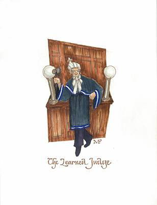 The Learned Judge Print by Marty Fuller