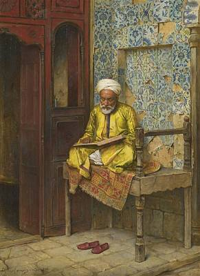 Kabah Painting - The Learned Man Of Cairo by Celestial Images