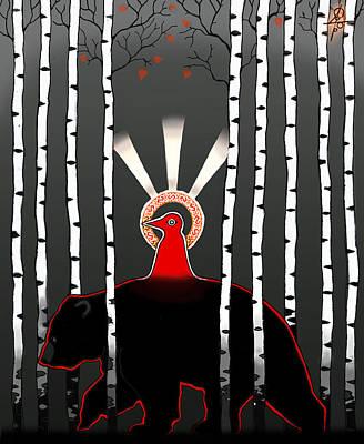 The Left Hand Path Art Print by Maxim Sukharev
