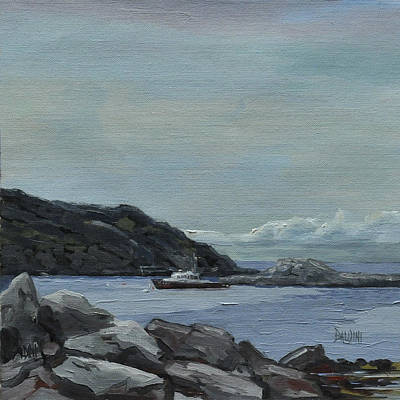 Painting - The Legacy - Monhegan Maine by J R Baldini IPAP
