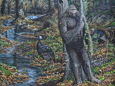 Painting - The Legend Of Gobble Creek by Michael Wawrzyniec
